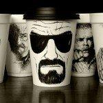 Рисунки на бумажных стаканчиках